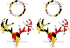 Maryland Flag Zombie Deer Skull Cornhole Pack