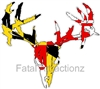 Maryland Flag Zombie Deer Skull
