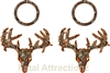 Orange Brown Camo Zombie Deer Skull Cornhole Pack