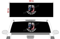 "POW American Flag See Thru Window Wrap 22""x68"""