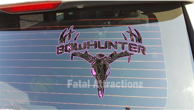 Pink Ambush Camo Bowhunter Deer Skull S4