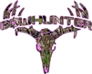Pink Camo Bowhunter Deer Skull S4