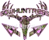 Pink Camo Bowhuntress Deer Skull S4 Arrows