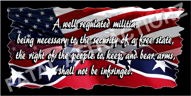 Rebel American Flag 2nd Ammendment