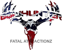Rebel Flag Bowhunter Deer Skull S4