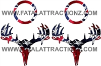 Rebel Flag Deer Skull S4 Cornhole Pack