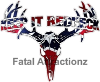 Rebel Flag Keep it Redneck Deer Skull S4
