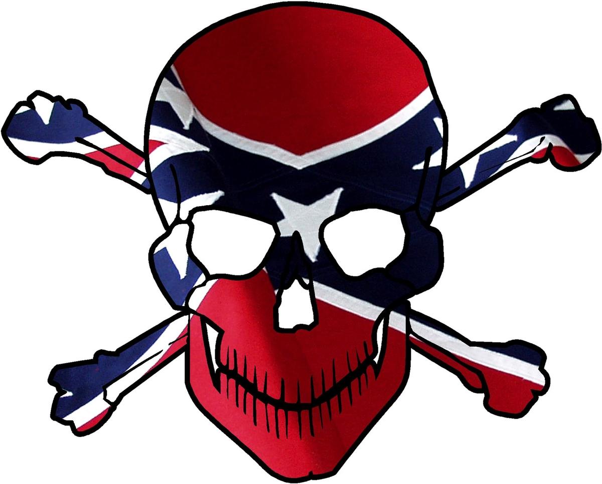 rebel flag skull crossbones