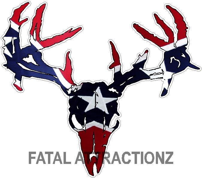 rebel flag zombie deer skull