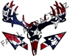 Rebel Flag Deer Skull S4 Arrows