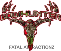 Red Camo Bowhunter Deer Skull S4