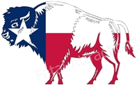 Texas Flag Buffalo