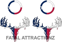 Texas Flag Deer Skull S4 Cornhole Pack