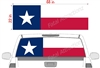 "Texas Flag See Thru Window Wrap 22""x68"""
