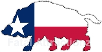 Texas Flag Wild Hog
