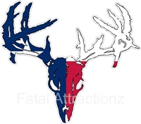 Texas Flag Zombie Deer Skull