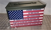 American Flag Pledge of Allegiance Ammo Can Box Wrap Set