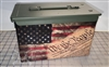 Ripped Distressed We The People American Flag Ammo Can Box Wrap Set