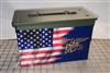 Ripped American Flag Navy Seal Ammo Can Box Wrap Set