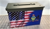 Ripped American Flag Pennsylvania Ammo Can Box Wrap Set