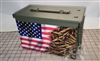 Ripped American Flag Bullets Ammo Can Box Wrap Set