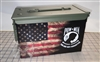Ripped American Flag Distressed POW MIA Ammo Can Box Wrap Set