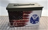 Ripped American Flag Distressed Army Ammo Can Box Wrap Set
