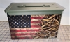 Ripped American Flag Distressed Bullets Ammo Can Box Wrap Set