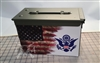 Ripped American Flag Distressed Coast Guard Ammo Can Box Wrap Set
