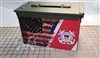 Ripped American Flag Distressed Coast Guard v2 Ammo Can Box Wrap Set