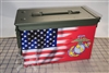 Ripped American Flag Marine Ammo Can Box Wrap Set