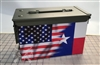Ripped American Flag Texas Ammo Can Box Wrap Set