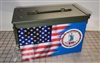 Ripped American Flag Virginia Ammo Can Box Wrap Set