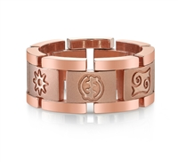 Adinkra 14k Rose Wedding Band