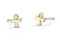FEMI Ankh Studs in 14k yellow gold