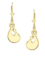 Prayer Meditation Earrings with lever backs- in 14k yellow gold