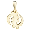 AMINA  Gye Nyame Pendant with bale in 14k yellow gold