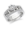 ABEBA 14k White Gold Wedding Band