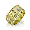 Adinkra Royale Diamond Wedding Band in 14k yellow gold