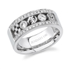 3 Symbol 2 Bezeled Diamond Wedding Band III in 14k gold- 20% Off!