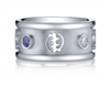 New Adinkra Royale 14k White Gold Wedding Band