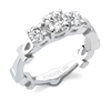 Akila Ankh Eternity Wedding Band in 18k white gold
