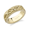 Eshua Crown Of Thorns Wedding Band in 18k yellow gold