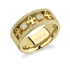 Ankh Tafari Wedding Band in 14k gold