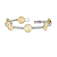 SAFAH Gye Nyame Diamond Bracelet in 14k gold