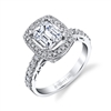 Ada 18k White Gold Emerald Cut Diamond Ring