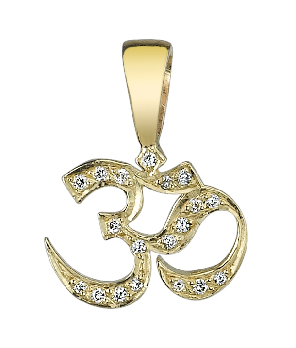 Om diamond pendant in 14k gold aumom diamond pendant in 14k gold mozeypictures Image collections