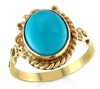 Am I Dreaming Blue Turquoise Ring in 14k  gold