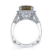 Alicia Cocoa Diamond Ring 14K White Gold