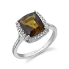 Jennah Tourmaline Ring in 14k white gold
